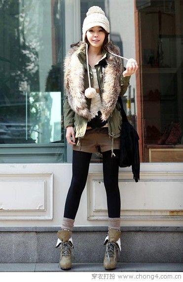 适合短发MM的时尚冬帽